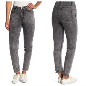 One Teaspoon | high rise Acid Wash skinny jeans